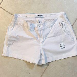 White cotton old navy shorts